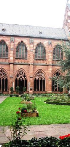 Cloister garden in Mainz , Germany