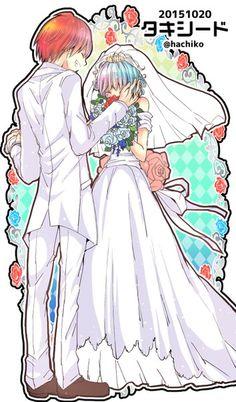 Karma Akabane and Nagisa Shiota Manga Anime, Anime Nerd, Anime Demon, Gender Bender Anime, Classroom Memes, Nagisa And Karma, Nagisa Shiota, Cute Anime Character, Anime Couples