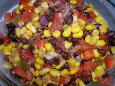 Black Bean and Corn Salsa   Love, love, love this recipe. Mine is slightly different - no avocado (but that's a great idea), no cilantro (personal choice), and we add 1.5 tablespoons of cumin. Let the flavors marry at least 4 hours, better if left overnight in the fridge. Fabulous on it's own as a dip but delicious added to chicken, breakfast tacos, etc. Never have any leftovers!!