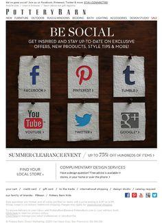 Social Media push Email Marketing