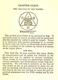 A little introduction to the symbols and seals incorporated by various Orders.  Wish I could read the whole book!