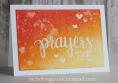 Today I'm sharing a set of embossed resist Distress Ink Prayers greeting cards. These cards were created for the Lasting Hearts Card Drive. You can read all about the card drive HERE. I hope that if you can, you will...