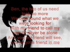 Michael Jackson - Ben Lyrics : He was still with J-5 when he recorded this song. I was a small girl and related to it so much. #AtFiveICried #MJ #MichaelJackson