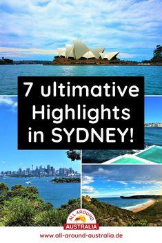 Über den Link gelangst du zu 7 ultimativen Highlights und Sehenswürdigkeiten in Sydney. #australien #sydney Brisbane, Melbourne, Highlights, Australia, Link, Blog, Australia Tourist Attractions, Viajes, Tips