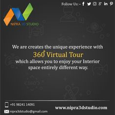 Nipra3DStudio - we are creates the unique experience with 360 virtual tour which allows you to enjoy your interior space entirely different way. To know more please visit our website  #nipra3dstudio,#3dexterior,#3dvisulisation,#3dwalkthrough,#3darchitectural,#likeme,#followme,#3drendering,#3ddesign.