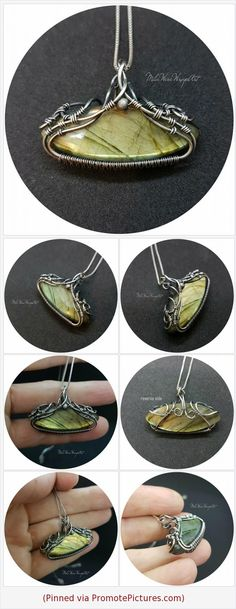 Wire wrapped Green Labradorite Horizontal Sterling silver pendant Handmade Exclusive Light green flash Jewelry Unique Gift Wirewraped https://www.etsy.com/MilaWireWrapArt/listing/587956578/wire-wrapped-green-labradorite?ref=shop_home_active_1 (Pinned using https://PromotePictures.com)