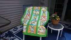 A personal favorite from my Etsy shop https://www.etsy.com/listing/521928810/bears-at-summer-camp-print-baby-quilt-in