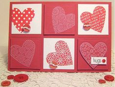 handmade Valentine card  clean and simple  lets the stamped