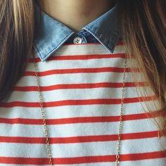 stripes/chambray.