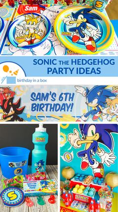 Level up your party game with the awesome ideas on our Sonic the Hedgehog Party guide. Sonic Birthday Parties, Sonic Party, Birthday Box, Birthday Party Games, 11th Birthday, Birthday Ideas, Toddler Birthday Themes, Xbox Party, Hedgehog Birthday