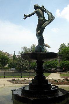 New Orleans - Uptown: Audubon Park - Gumbel Memorial Fountain by wallyg, via Flickr