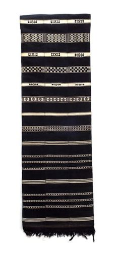 Africa | Cotton textile from the Dogon people, Mopti region, Mali | ca. 1983 Textile Patterns, Textile Design, Print Patterns, African Quilts, African Textiles, Cultural Crafts, Cotton Textile, Lace Print, Pattern And Decoration