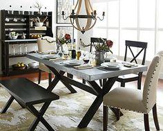 Keaton Trestle Table - Art Van Furniture