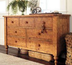 Ashby Extra-Wide Dresser | Pottery Barn. looks like beautiful knotty pine