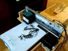 HP T-shirt printer homemade T Shirt Printer, Inkjet Printer, Printers, Engineering, Homemade, Youtube, Shirts, Printer, Home Made