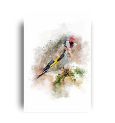 Housewarming gift for Bird lovers. Wildlife Decor, Printable Wall Art, House Warming, Printables, Birds, Watercolor, Gift Ideas, Digital, Garden