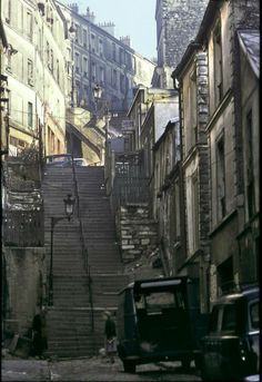 #photo Escalier du passage Julien Lacroix1965 © Serge Degoud #PEAV #Paris20 @Menilmuche @ParisHistorique