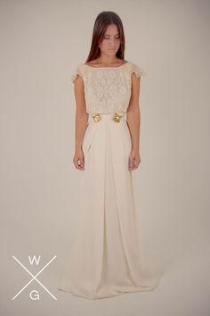 White Chiara By White Gatache     #wedding #weddingdrees #bridal #bride #novias #atelier #vintage #whitegatache #whitechiara #noviasdiferentes #noviasespeciales #style #lovevintage #detallesnovias
