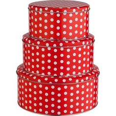 Buy Set of 3 Polka Dot Cake Tins at Argos.co.uk - Your Online Shop for Food…