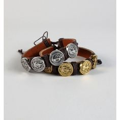 LAST ONE🔹Leather Coin Bracelet🔹LOWEST Gold coin adjustable leather bracelet🔹The item is new, direct from maker without store tags FINAL PRICE UNLESS BUNDLED Posh Garden Jewelry Bracelets