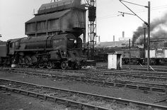 another memory of '60s steam taken by chris ravenscroft  this time of the ash disposal plant at crewe south shed  locomotives visible are standard class 9f 2-10-0 92002 which has obtained the chalked name of king rat and an unidentified britannia pacific