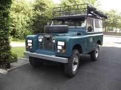 land rover 1965 series IIa 88, suv, exterior: grey, interior: black