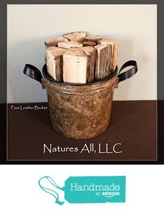Fireplace Logs, Bucket, Amazon, Handmade, Leather, Amazons, Hand Made, Riding Habit, Buckets