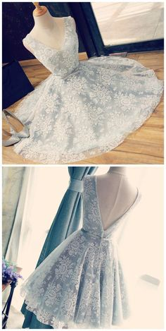 Outfits- 2017 Cute V Neck V Back Sleeveless Lace Beautiful Knee-Length Homecoming Prom The black lace simple homecoming dresses are fully lined, 4 bones in the bodice, chest pad in the bust, lace up back or zipper back are all available. Lace Homecoming Dresses, Hoco Dresses, Dance Dresses, Formal Dresses, Sexy Dresses, Casual Dresses, Summer Dresses, Vintage Prom Dresses, Grad Dresses Short