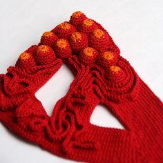 "Crochet necklace - ""Riesenkaviar"" | by ulaniulani"