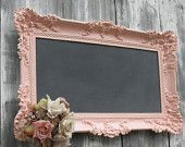 shabby chic chalkboard...I have one just like this in my office that I write quotes on..Love it!!