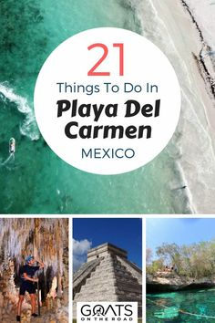 From must try traditional Mexican food to water sports including jet skiing, paddleboarding and cave diving. With recommendations for day trips to Mayan ruins, cenotes and Isle Cozumel, here's your travel guide to Playa Del Carmen, Mexico Cozumel Mexico, Mexico Vacation, Mexico Travel, Maui Vacation, Mexico Honeymoon, Vacation Destinations, Playa Del Carmen Resorts, Merida, Travel Tips