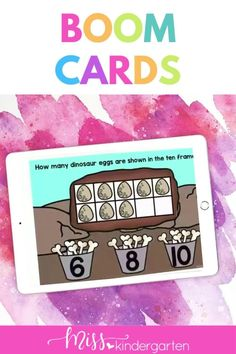 Engaging interactive kindergarten counting boom cards for distance learning. Whether you are remote, hybrid, or in class these are fabulous. This is part of a mega kindergarten Boom Card bundle. Kindergarten Math Activities, Math Literacy, Number Sense Activities, Hands On Activities, Daily Math, Student Motivation, Task Cards, Math Lessons, Math Centers