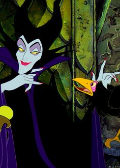 Maleficent...my favorite Disney villain.  Not invite her to a christening?  Big mistake!