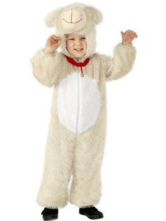 Kids Small Easter Lamb Fancy Dress Costume: A Cute Lamb Costume perfect for Little Boys & Girls this Easter.