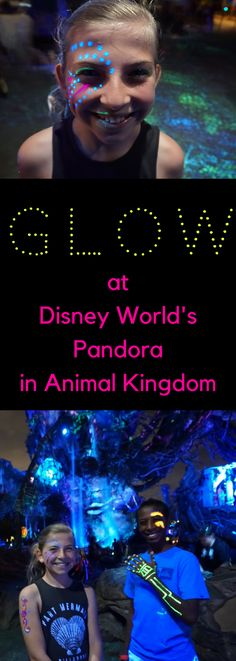 How to Make yourself Glow at Disney World's Pandora in Animal Kingdom **Hint - You need to plan ahead**. Check out these super fun an easy tips. #disney #disneyworld #animalkingdom