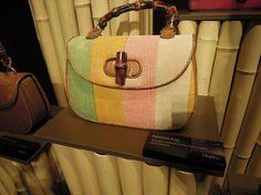 マルチカラーヘンプのバンブーバッグ(1960's) by Gucci