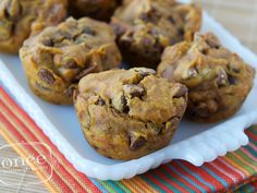 Gluten Free Dairy Free Pumpkin Chocolate Chip Muffins | Once A Month Meals | Freezer Cooking | OAMC