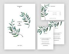 Flower  Wedding Invitation Wedding Printable Invitation
