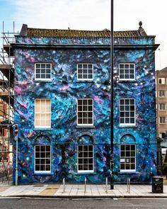 Street Art...Full Moon, Stokes Croft, Bristol Street Art by Cheba.