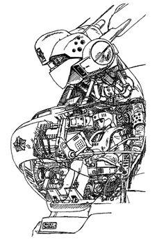 Patlabor cockpit cutout. | Study materials. | Pinterest
