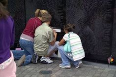 Kids at the Vietnam Memorial