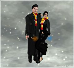 Looking butterflies and fireflies: -TNT- Harry Potter Gryffindor Male & Female + Glam...