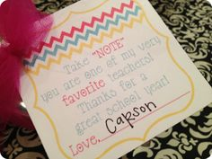 More Teacher Appreciation. From Marci Coombs Blog