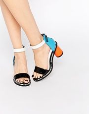 Kat Maconie Neive Multi Colored Block Heeled Sandals