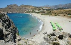 Plakias Beach, the most popular of the Highlights of Rethymno  <3