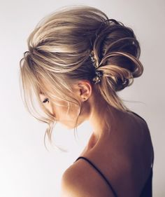 elegant simple easy bun | updo | messy | boho | romantic | blondes