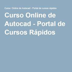 Curso Online de Autocad - Portal de Cursos Rápidos