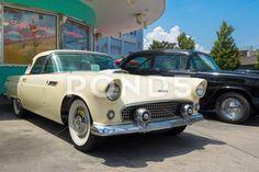 1956 ford thunderbird at universal studios florida Stock Photos , Ford Stock, Orlando Usa, Florida Theme Parks, Universal Studios Florida, Ford Thunderbird, Digital Camera, Antique Cars, Photograph, Fotografia