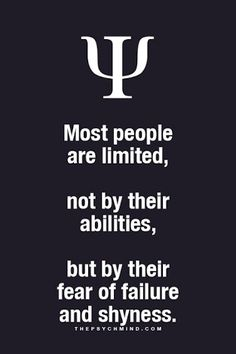 Most people are limited....
