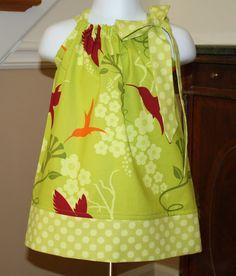 hummingbird Pillowcase dress michael miller by BlakeandBailey, $19.99   Ok...gotta start looking at some cute girl clothes...love all these little dresses!! very original!